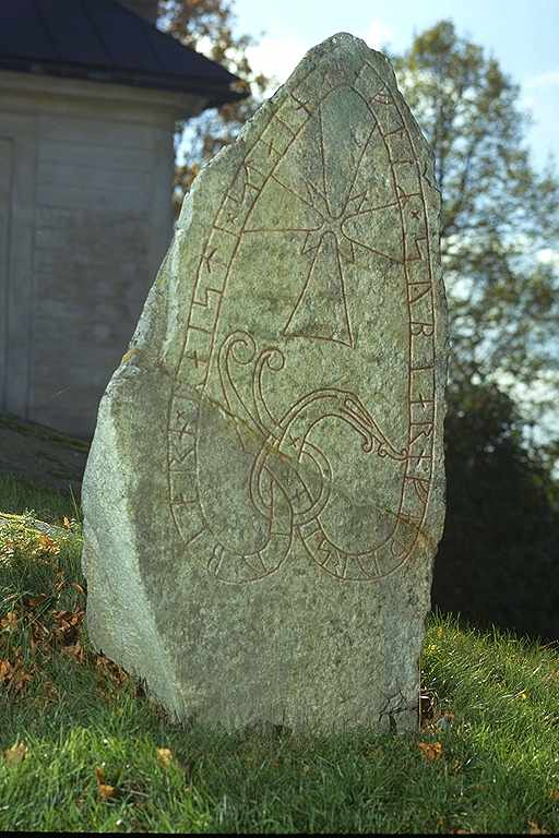Runes written on runsten, granit. Date: V